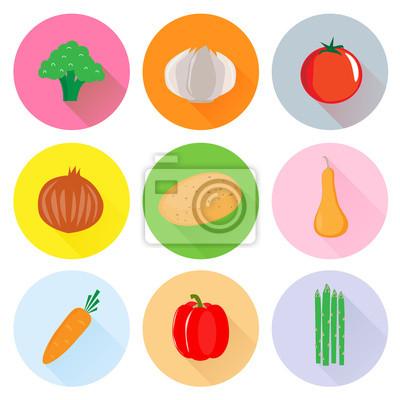 Coeur vecteur de légumes sains
