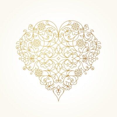 Papiers peints Coeur vecteur orné. Illustration de Saint-Valentin.