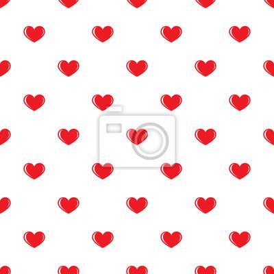Coeurs Rouges Petits Motif Transparent Sur Fond Blanc Design Papier Peint Papiers Peints Nubes Belle Fevrier Myloview Fr