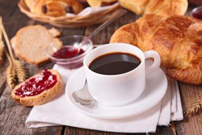 Papiers peints coffee cup and croissant