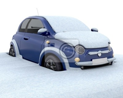 Coincé dans la neige