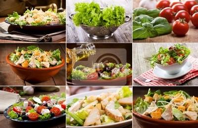 collage avec de la salade