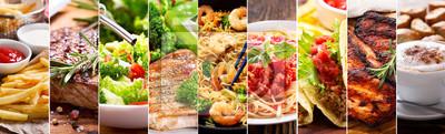 Papiers peints collage de produits alimentaires