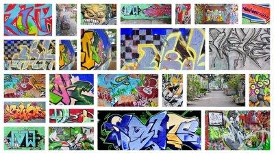 Papiers peints collage ... graffiti