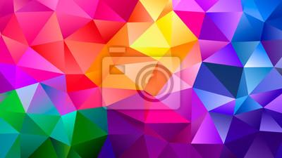 Papiers peints Color Blend Rainbow Trendy Low Poly BG Design