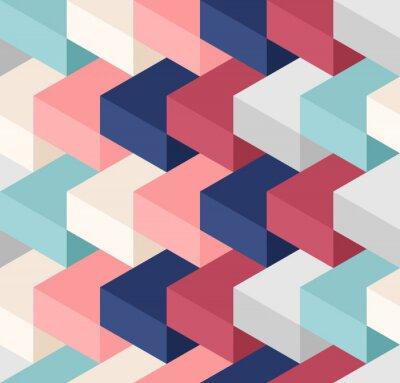 Papiers peints Color cubes seamless pattern