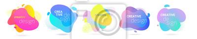 Papiers peints Color gradient abstract liquid splash shape, vector halftone pattern background design. Fluid color gradient overlap halftone graphic background