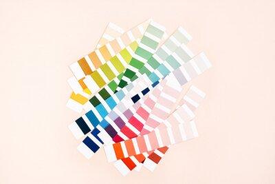 Papiers peints Color palette with various samples. Rainbow sample colors catalogue.