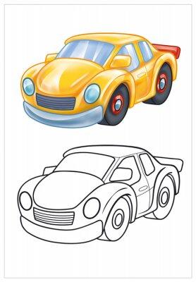 Papiers peints coloration de voiture de jouet jaune