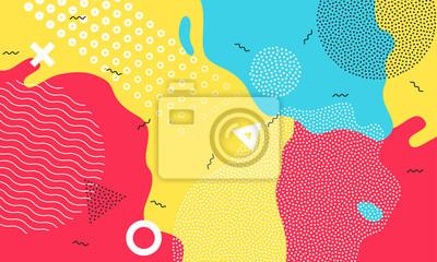 Papiers peints Coloré dessin animé couleur splash fond vecteur de terrain de jeu enfantin kid géométrique abstrait design
