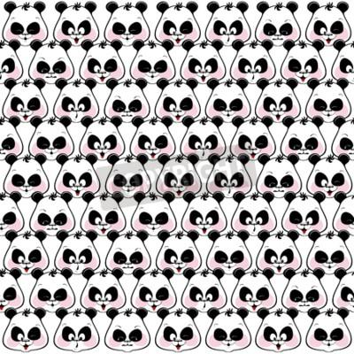 Papiers peints Coloré, fond, drôle, muzzles, pandas Illustratio