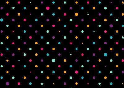 Papiers peints Coloré, points, noir, fond, vecteur
