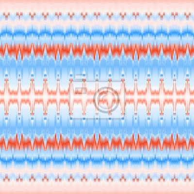 Colore Seamless Ethnique Bleu Et Rouge Vecteur Papier Peint