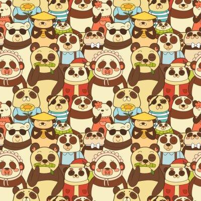 Papiers peints Coloré, seamless, modèle, drôle, pandas