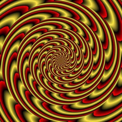 Papiers peints Colorful abstract tunnel coloré hypnotique
