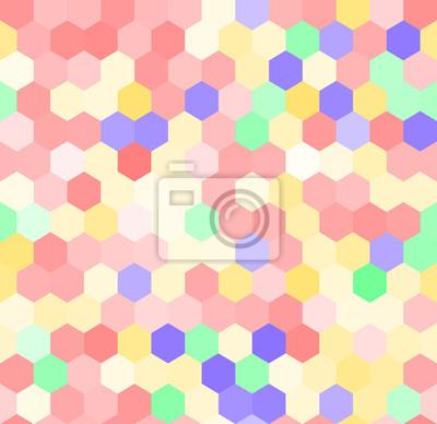 Colorful rose motif hexagone sans soudure, vecteur papier peint ...
