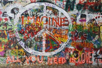 Papiers peints Colourfull, paix, graffiti, mur