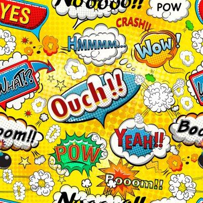 Papiers peints Comique, parole, bulles, seamless, modèle, Illustration