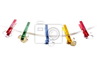 Papiers peints Comme des icônes sur une corde à linge