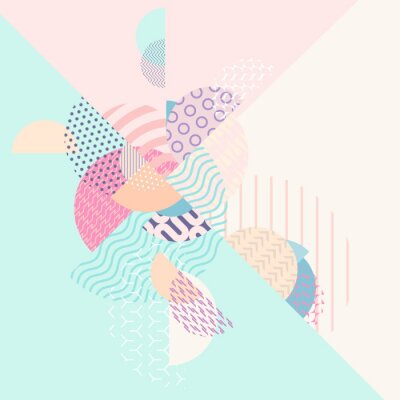 Papiers peints Composition géométrique multicolore abstraite
