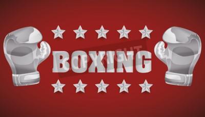 Papiers peints Concept de boxe avec design d'icônes de championnat, illustration vectorielle 10 eps graphique.