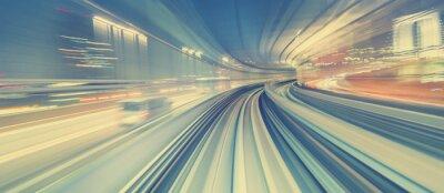 Papiers peints Concept de la technologie à grande vitesse via un monorail de Tokyo
