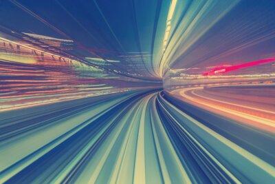 Papiers peints Concept de technologie à haute vitesse via un monorail de Tokyo