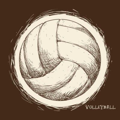 Papiers peints Conception d'icônes de volley-ball