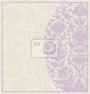 Papiers peints Conception de carte de mariage, motif floral Paisley, Inde