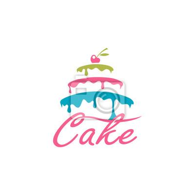 Papiers peints conception de gâteau sucré avec baies isolé sur fond blanc
