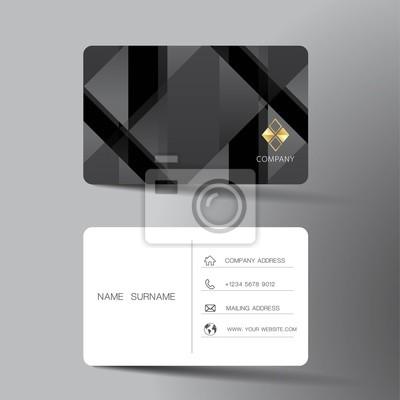 Papiers Peints Conception De Modele Carte Visite Noir Et Blanc Avec L
