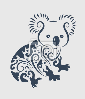 Conception De Tatouage Koala Papier Peint Papiers Peints Gravent