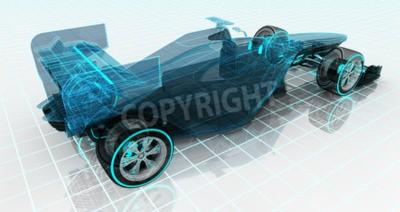 Papiers peints Conception de voiture de conception de technologie de voiture de fil