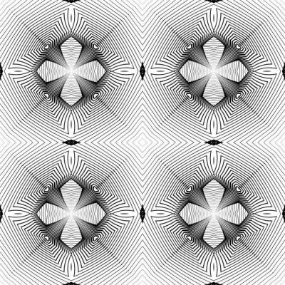 Papiers peints Concevoir un motif géométrique monochrome transparent