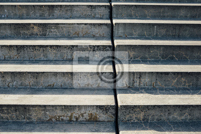 Papiers peints Concrete steps with day light and shadow, urban architecture