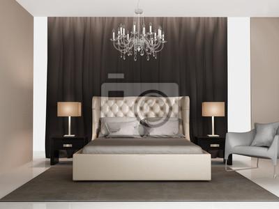 Papiers peints: Contemporain élégant gris de luxe chambre beige