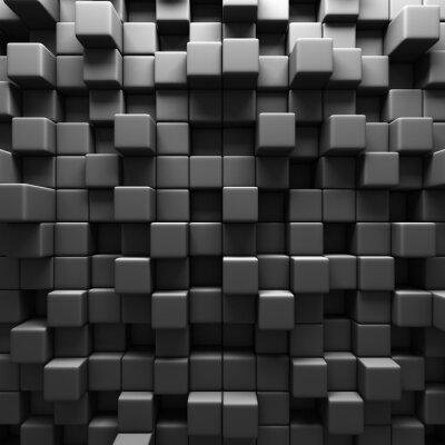 Papiers peints Contexte Dark Grey Cube Blocs mur