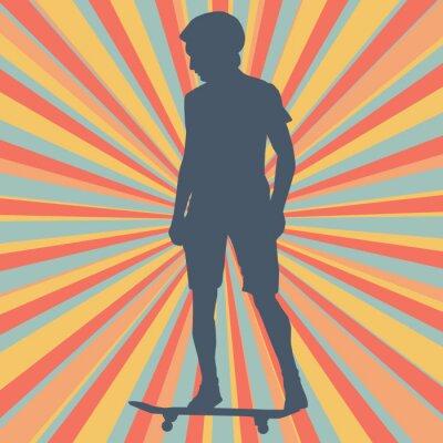 Papiers peints Contexte de vecteur de skateboard de garçon