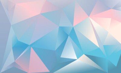 Papiers peints Contexte triangle abstrait. Couleur bleu clair, rose et blanc.
