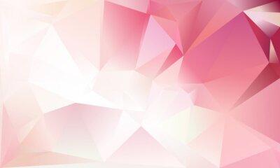 Papiers peints Contexte triangle abstrait. Couleur rose clair, blanc et rouge.