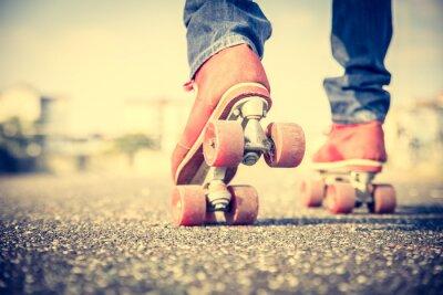 Papiers peints Cool man de porter des chaussures de patinage à roulettes