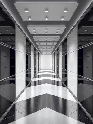 Papiers peints Corridor noir et blanc.