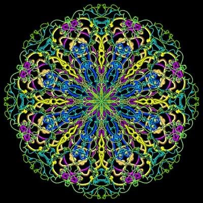 Papiers peints couleur Mandala