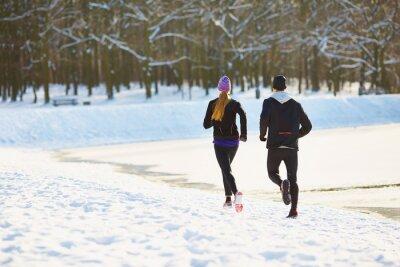 Papiers peints Couple, courant, hiver