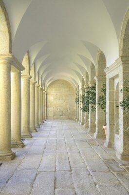 Papiers peints Cour méditerranéenne de colonnes