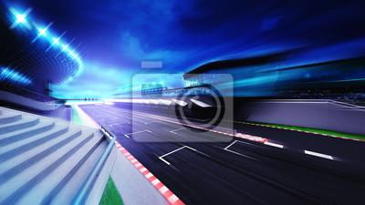 Course, circuit, fin, section, soir, mouvement, barbouillage