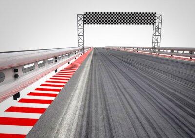 course circuit perspective de la ligne d'arrivée