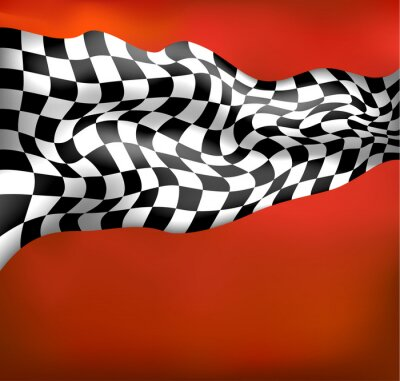Papiers peints course de fond drapeau à damier wawing