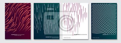 Papiers peints Cover templates set, vector geometric abstract background. Flyer, presentation, brochure, banner, poster design.