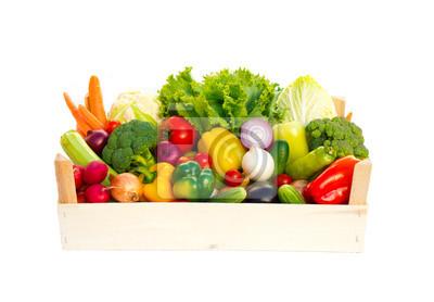 Crate avec des légumes